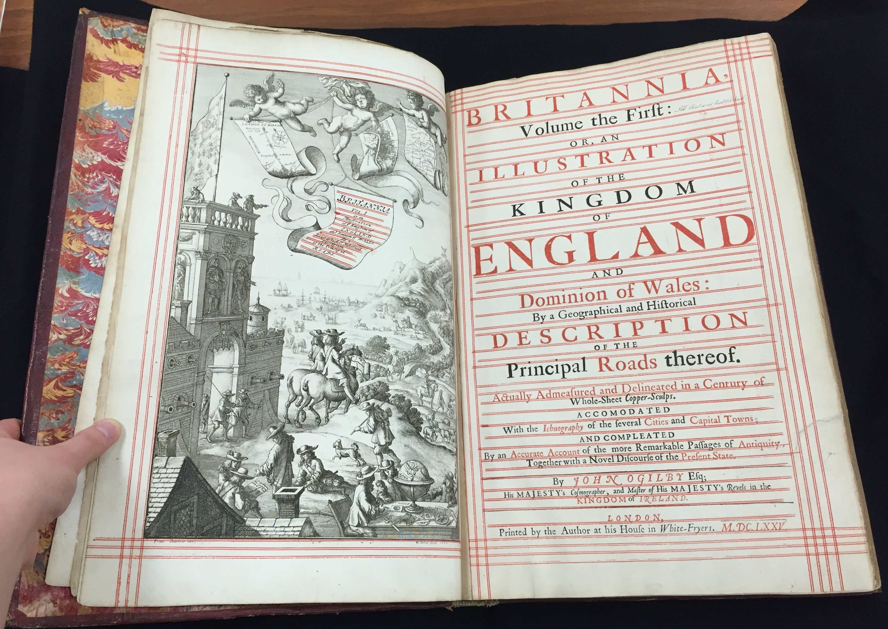 Title Page for John Ogilby's Britannia (1675).