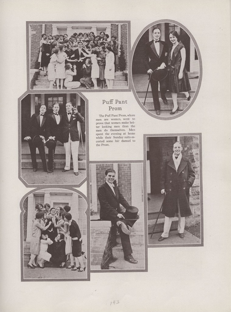 Photographs of the Puff Pant Prom, Jayhawker yearbook, 1927