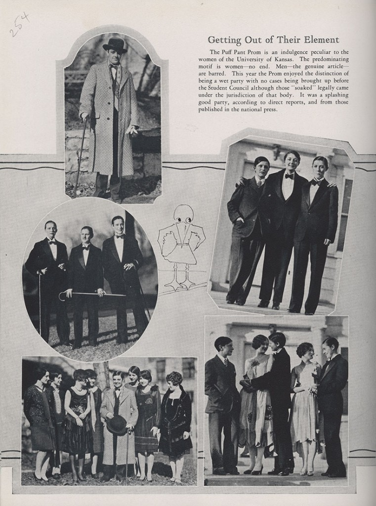 Photographs of the Puff Pant Prom, Jayhawker yearbook, 1928