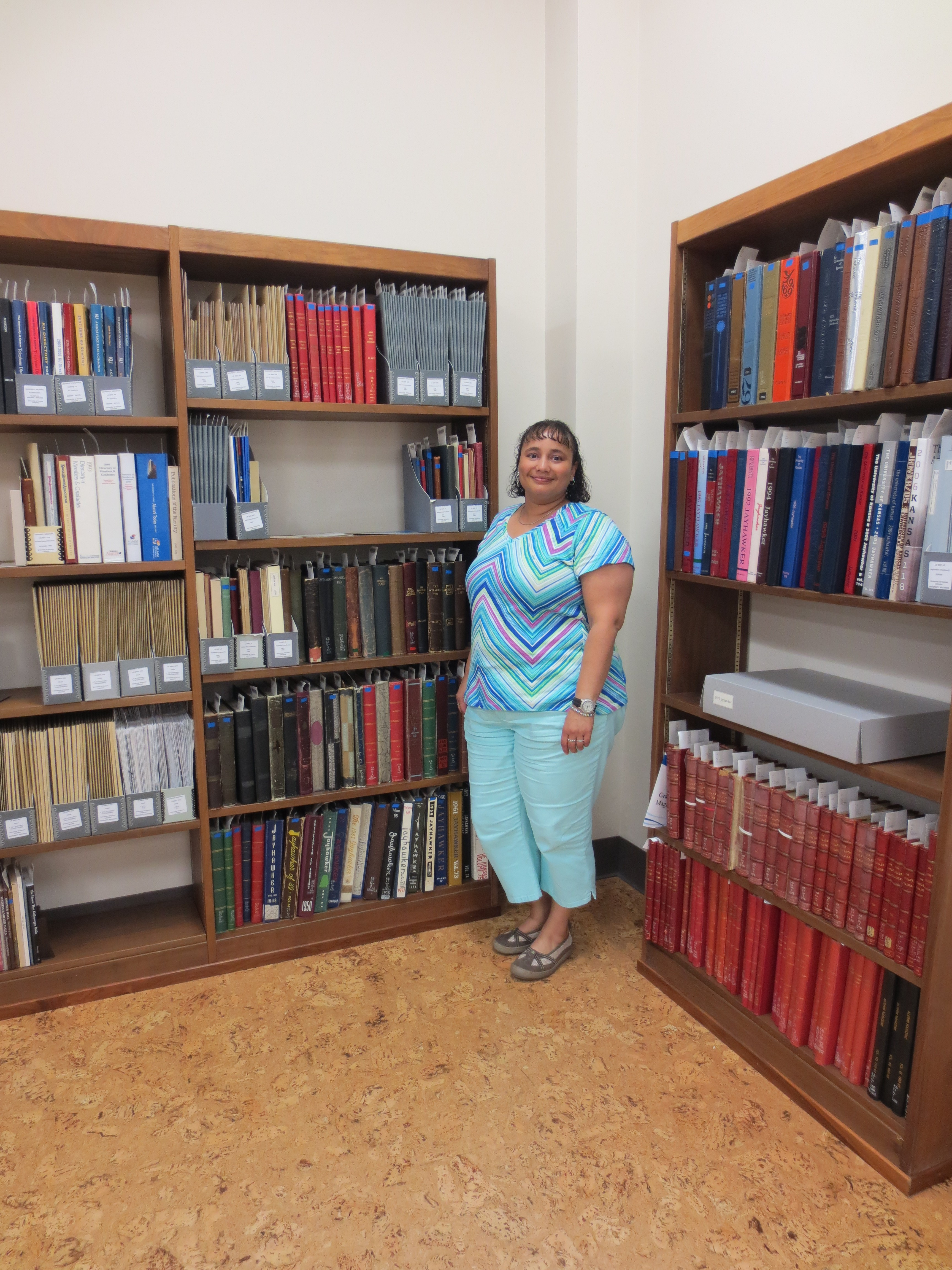 Letha Johnson, Assistant Archivist for the University Archives
