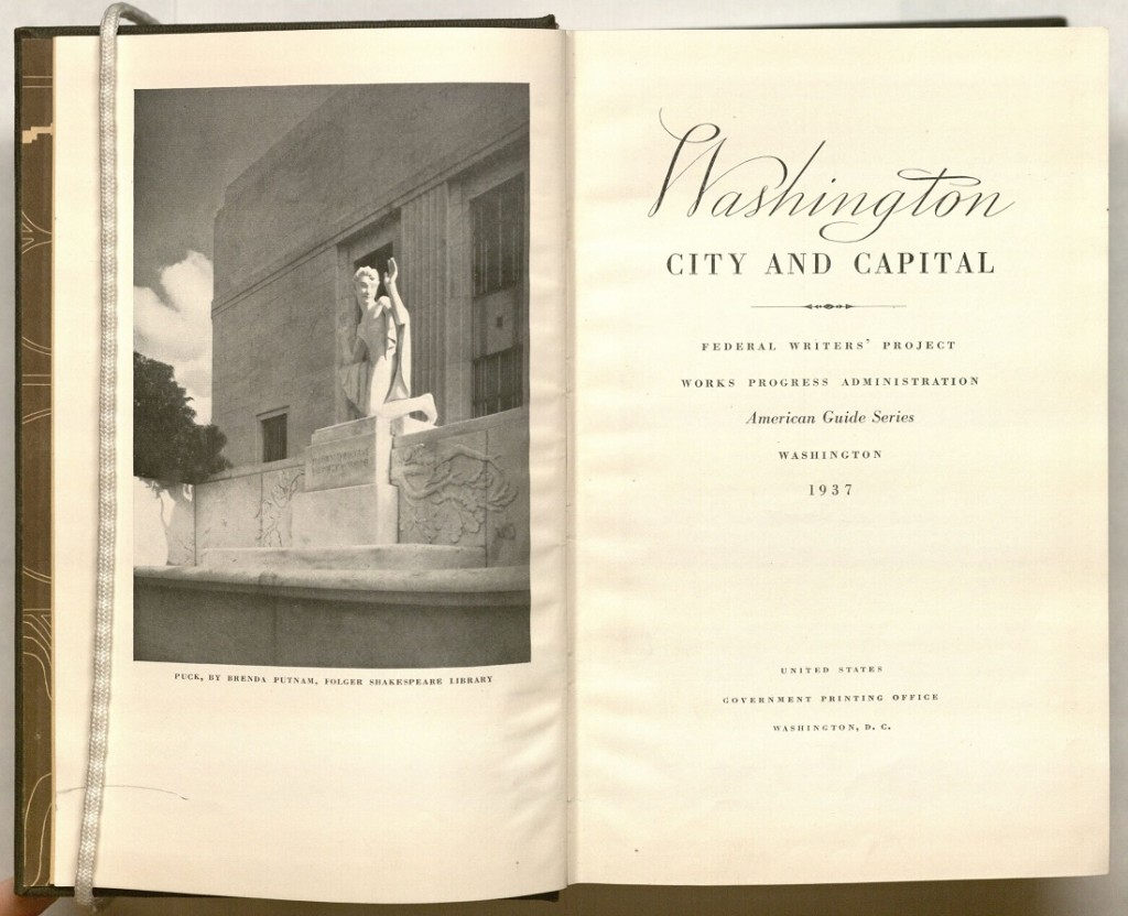 Title page of American Guide Series for Washington, D.C., 1937
