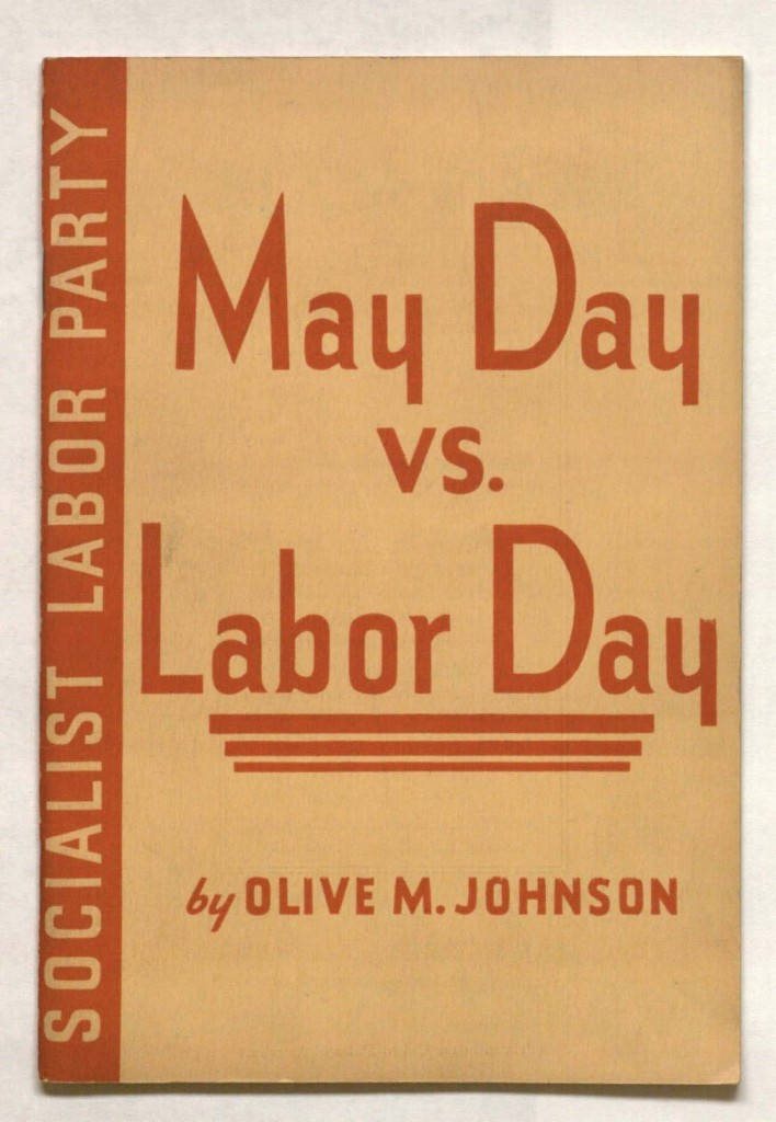 Cover of May Day vs. Labor Day, 1936