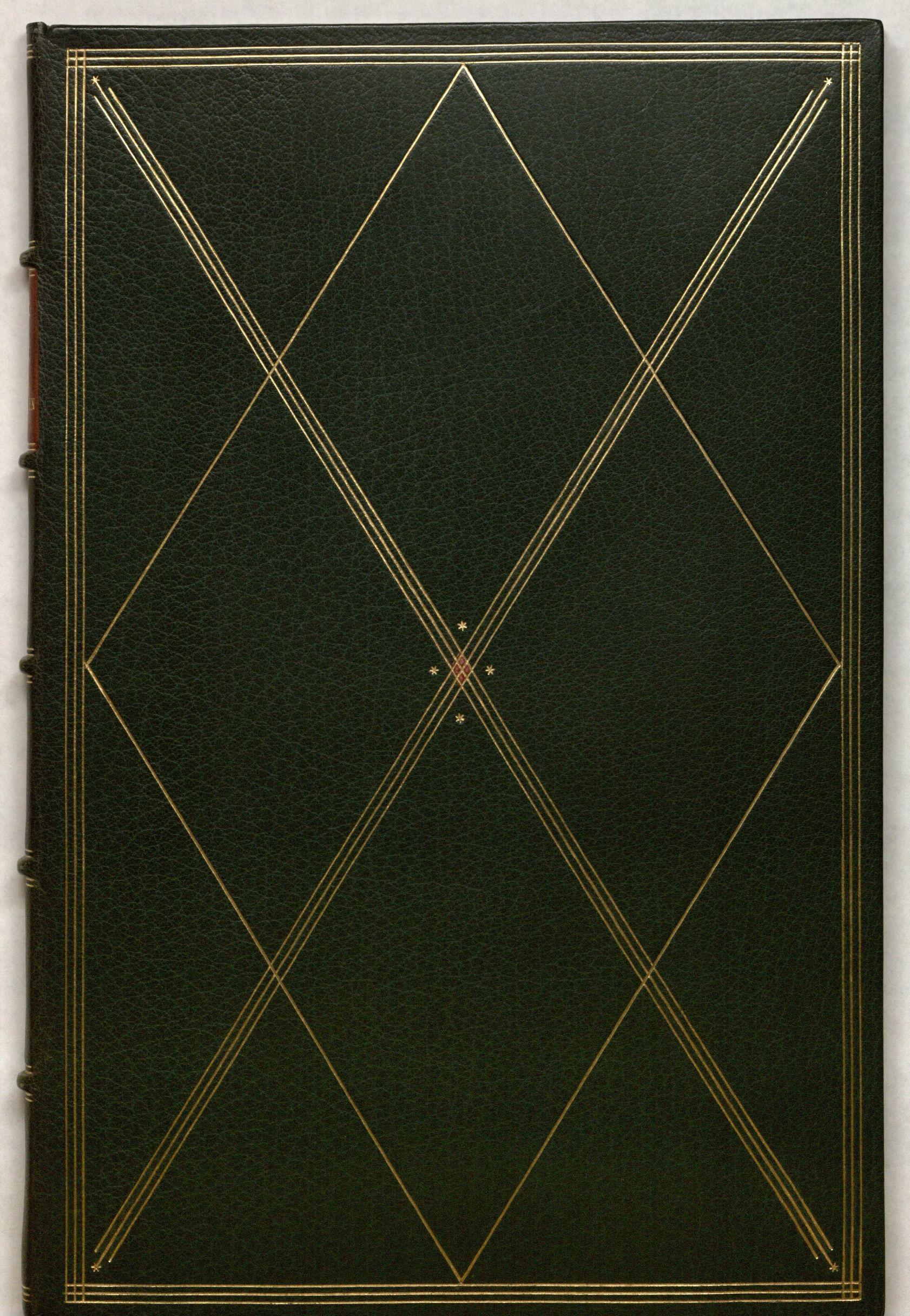 Rainer Maria Rilke's Duineser Elegien, Leipzig: im Insel-Verlag, 1923: cover. Special Collections, call number: Rilke Z50.