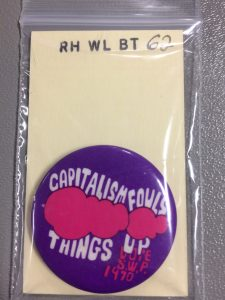 Wilcox button. Call number RH WL BT 62. Spencer Research Library.