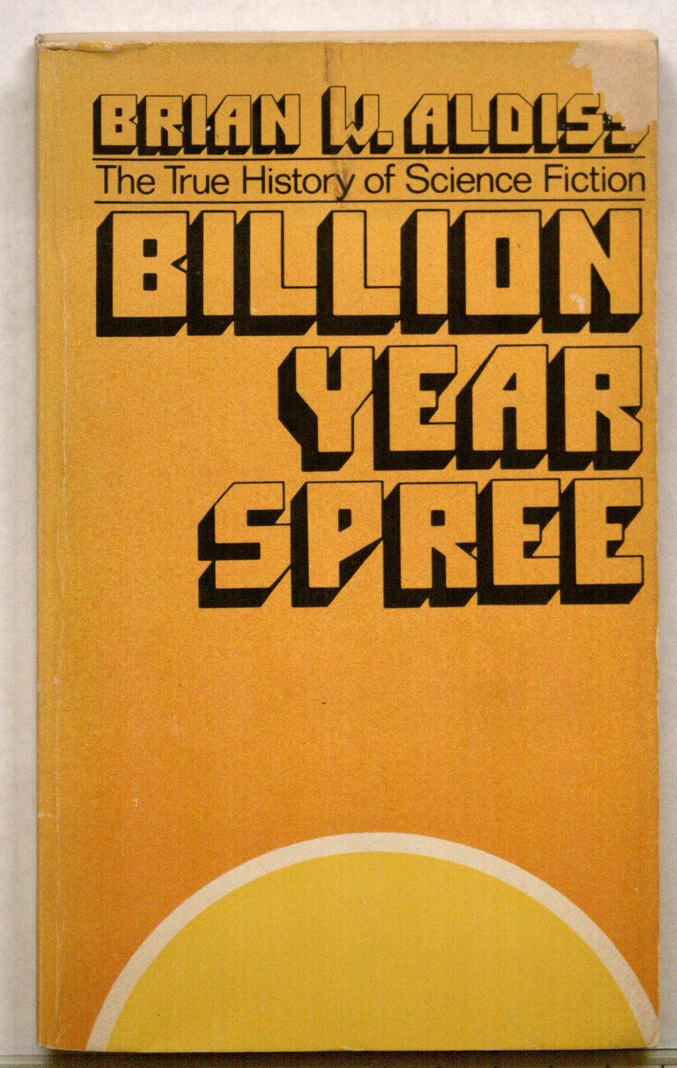 Cover of Brian Aldiss's Billion Year Spree (1974 paperback edition)