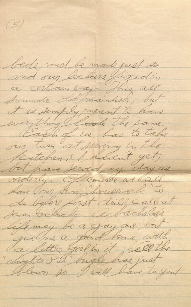 Image Forrest W. Bassett's letter to Ava Marie Shaw, August 8, 1917