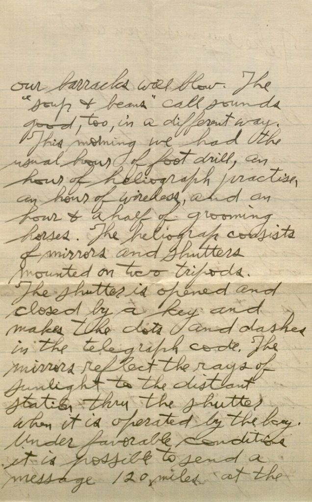 Image of Forrest W. Bassett's letter to Ava Marie Shaw, August 29, 1917