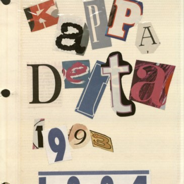 Image of a Kappa Delta scrapbook title page, 1993