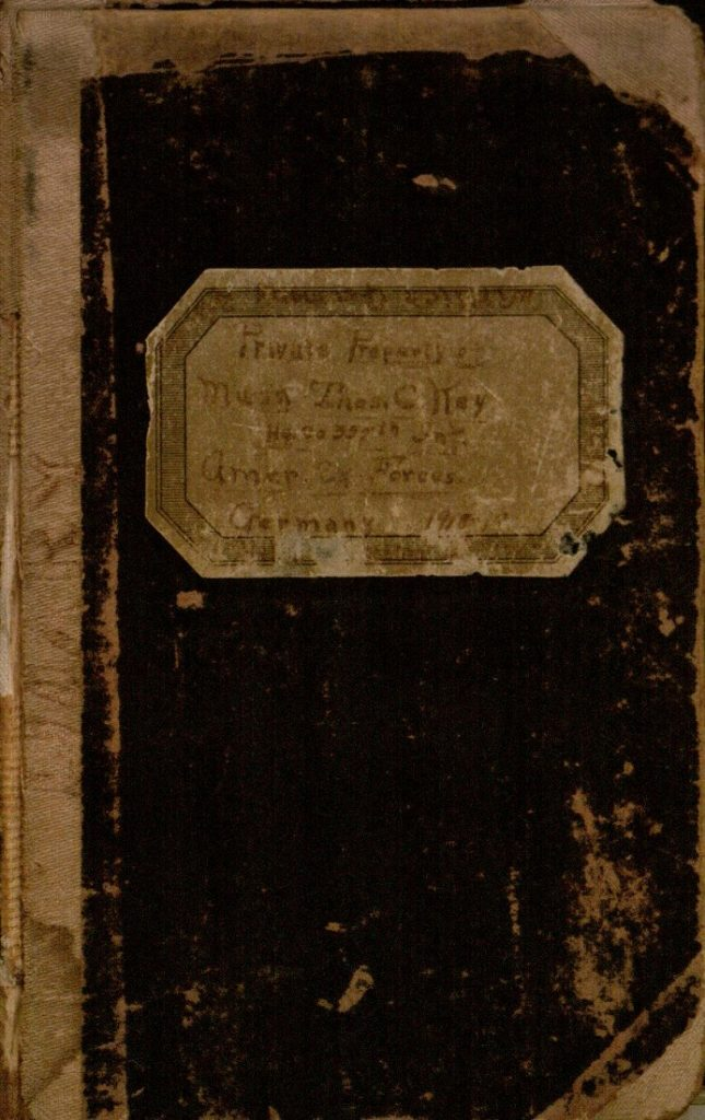 Image of the cover of Thomas Key's World War I diary