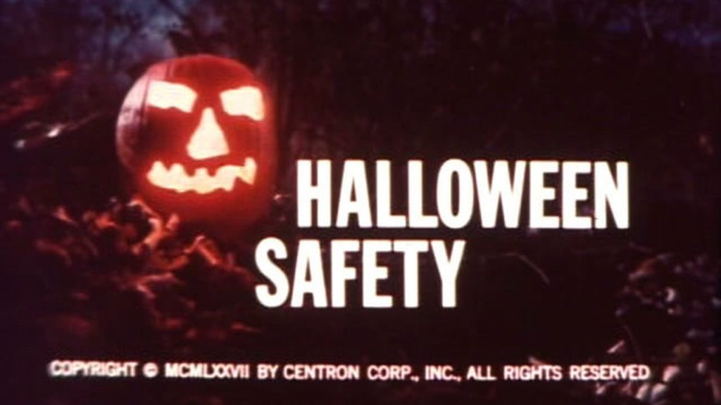 "Image of ""Halloween Safety"" Film title sequence."
