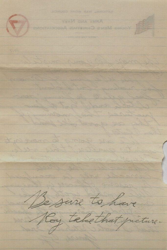 Image of Forrest W. Bassett's letter to Ava Marie Shaw, November 11, 1917