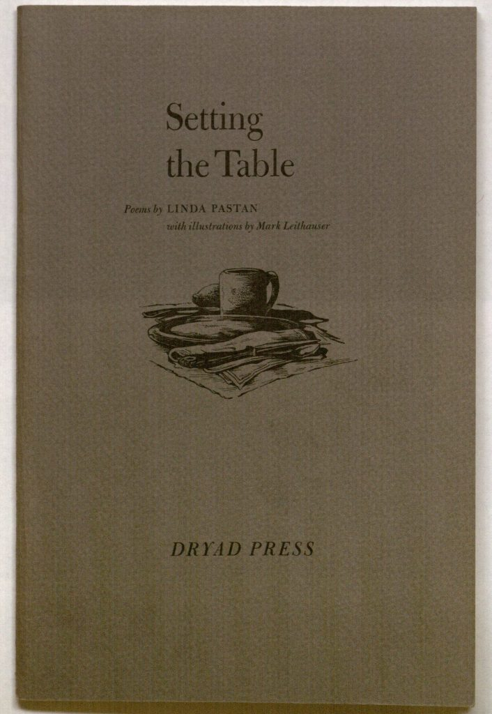 Cover of Linda Pastan's Setting the Table: Poems