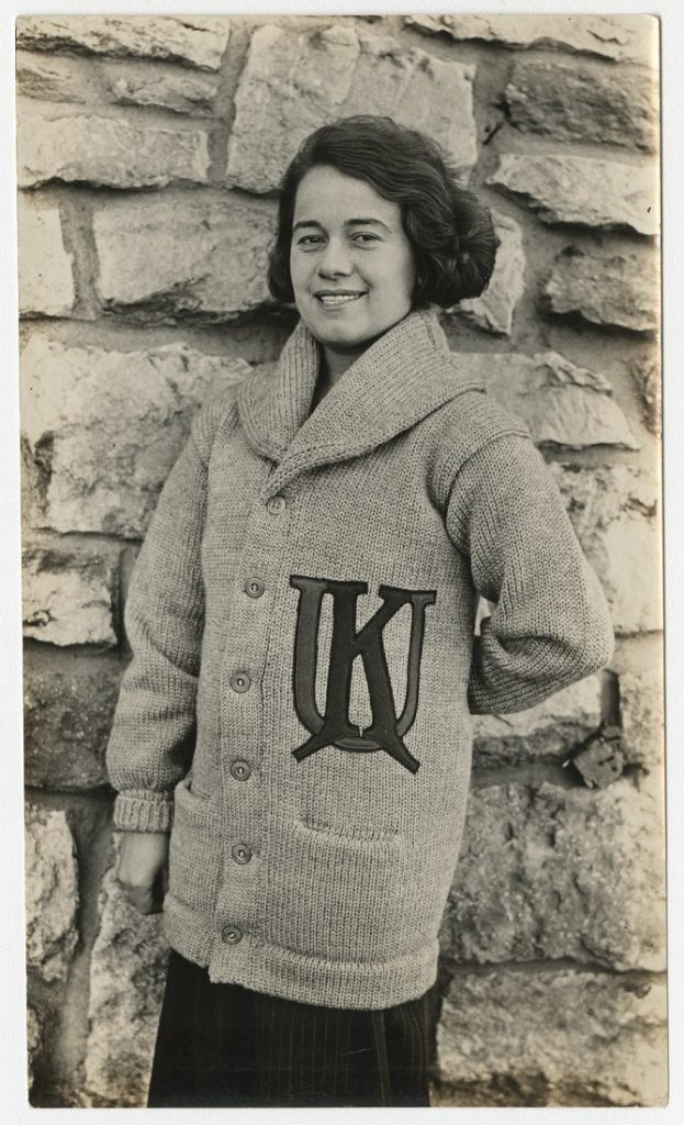 Photograph of a Women's Rifle Club member, 1925