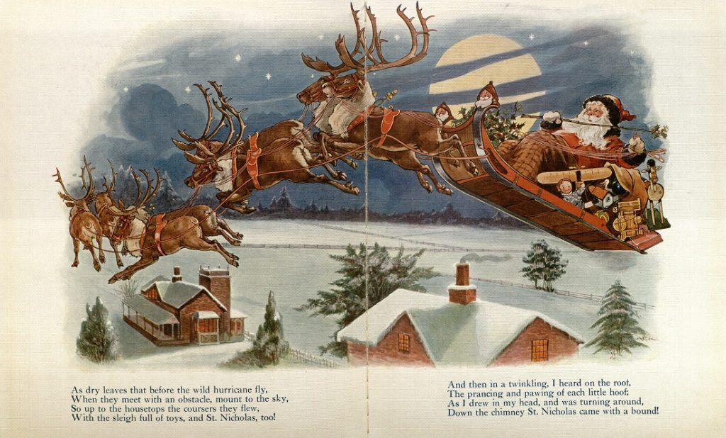 Illustration from The Night Before Christmas, circa early 1900s