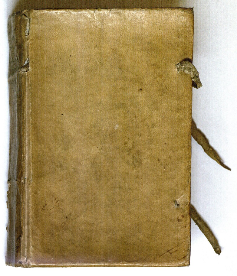 Velum binding with tawed skin ties for a volume containing two manuscripts by Mlle de Lubert