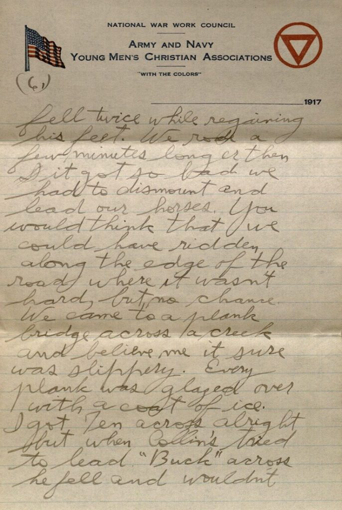 Image of Forrest W. Bassett's letter to Ava Marie Shaw, January 5, 1918
