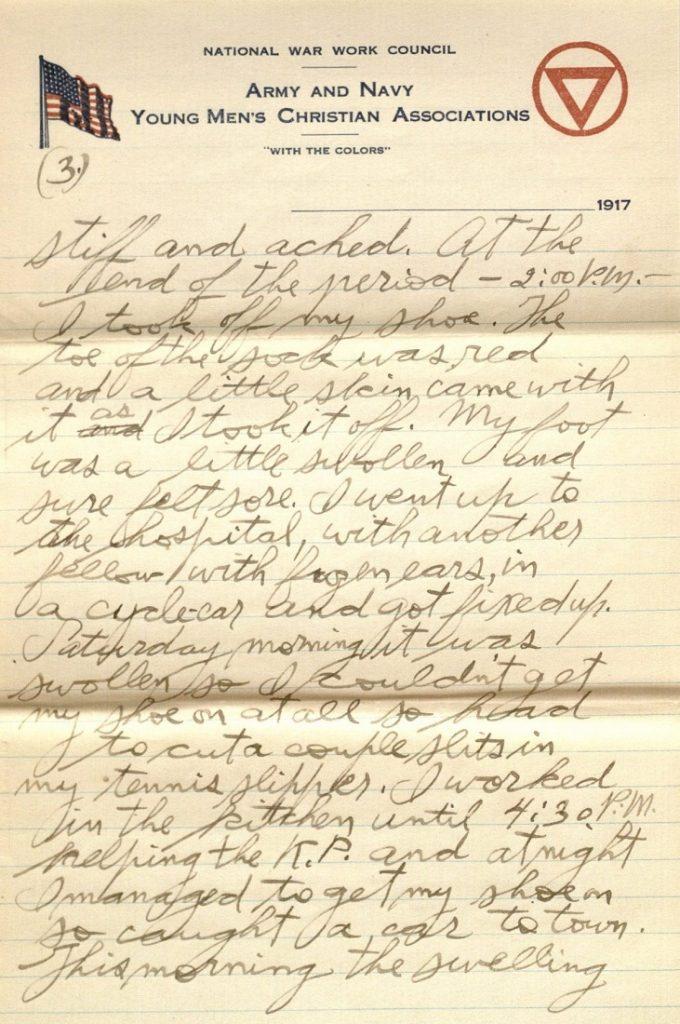 Image of Forrest W. Bassett's letter to Ava Marie Shaw, December 16, 1917