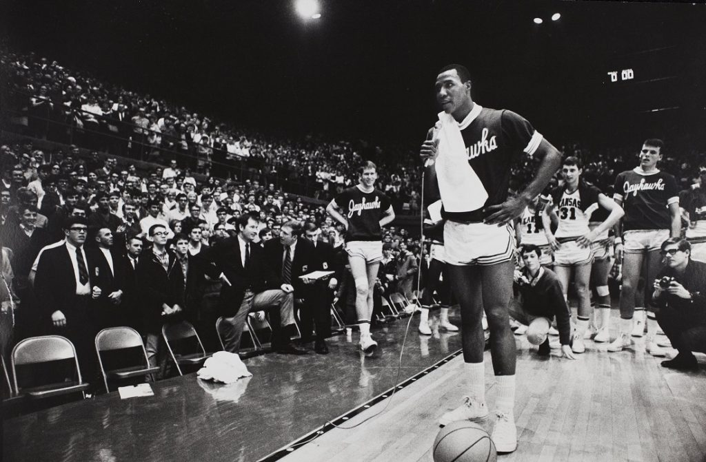 Photograph of KU basketball player Jo Jo White, circa 1966-1969