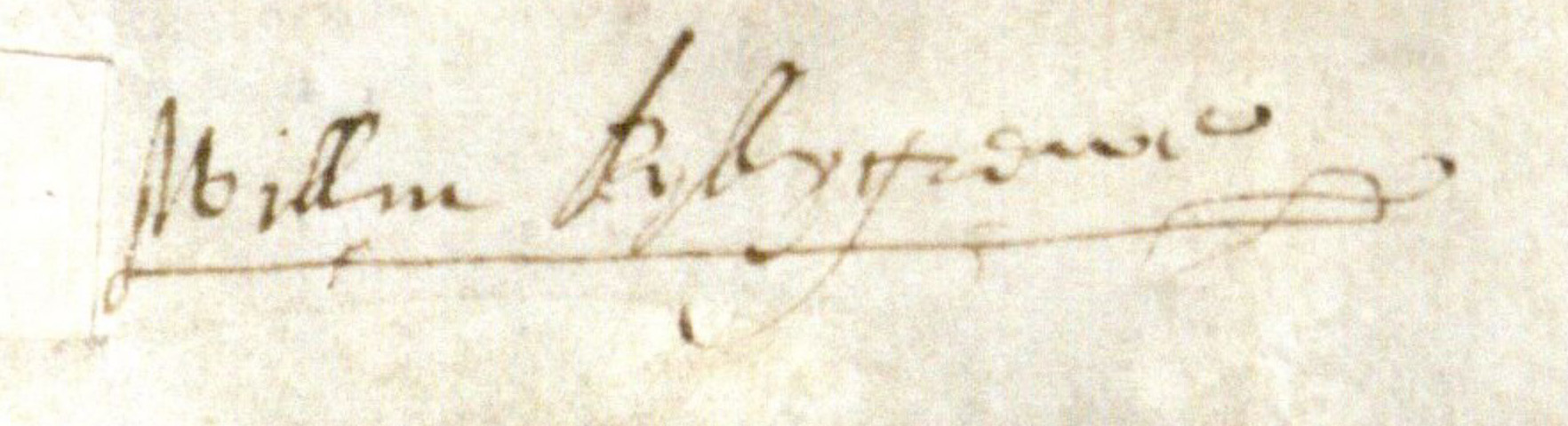 William Killigrew signature detail from 1601 deed of covenant.