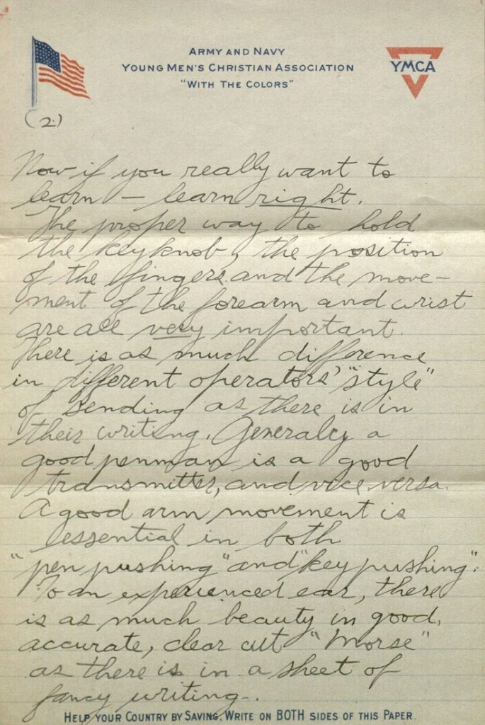 Image of Forrest W. Bassett's letter to Ava Marie Shaw, April 25, 1918