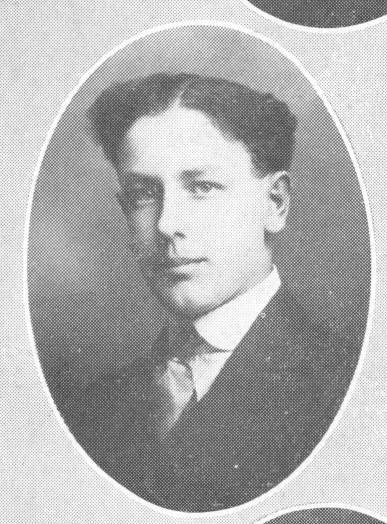 Photograph of Forrest Bassett in The Beloiter yearbook, 1916
