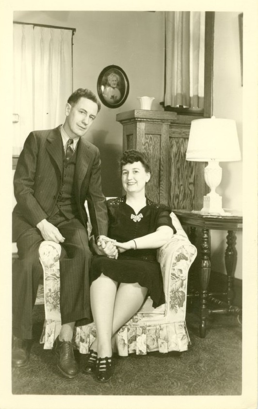 Photograph of Forrest and Marie Bassett on their twenty-fifth anniversary, March 6, 1945