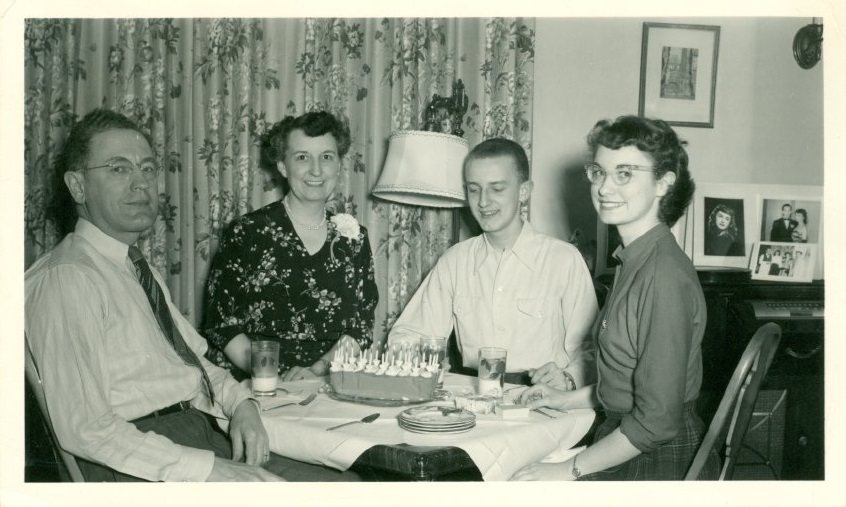 Photograph of Sally Ann Bassett's twentieth birthday, March 22, 1950