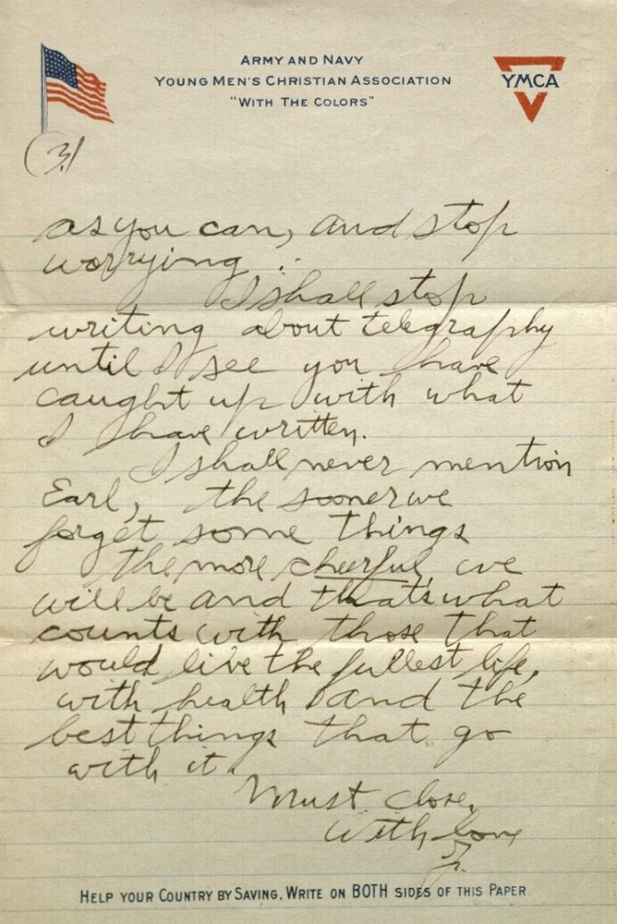 Image of Forrest W. Bassett's letter to Ava Marie Shaw, May 14, 1918
