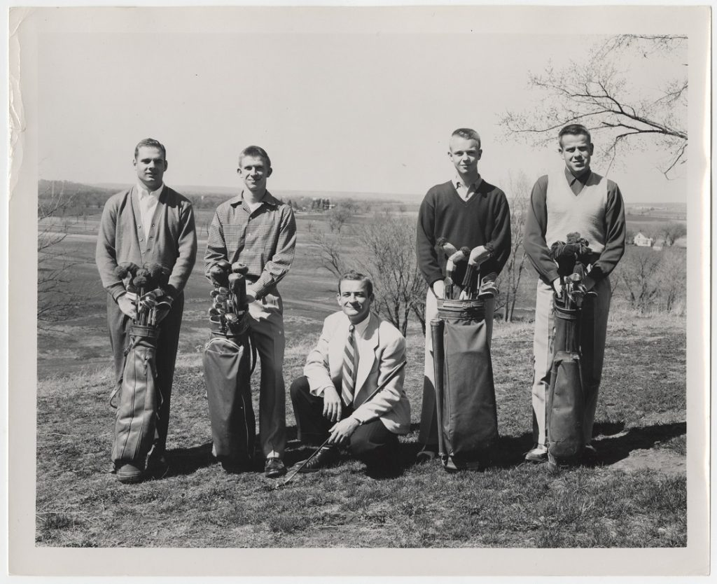 Photograph of the KU men's golf team, 1950s