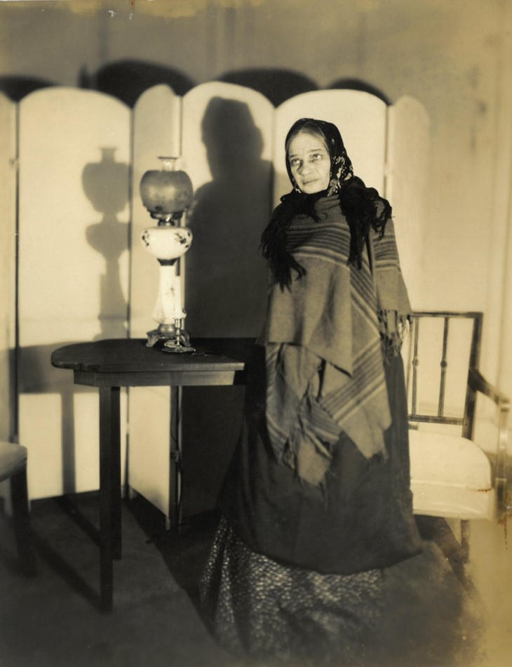 Still image of Marya Ouspenskaya from an American Laboratory Theatre production (Three Sisters?) Photographer: Maurice Goldberg