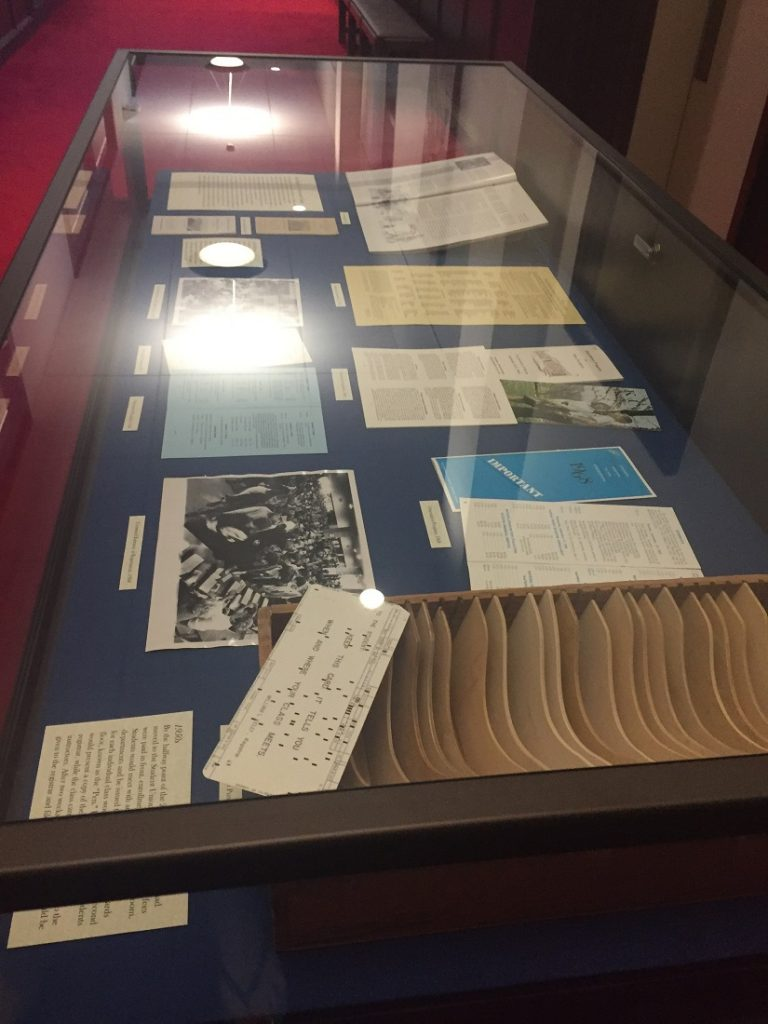 Photograph of the enrollment exhibit