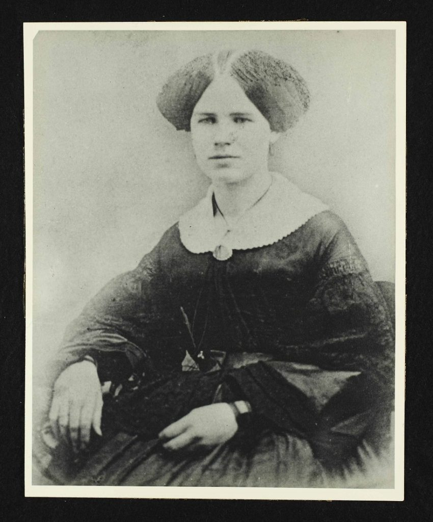 Photograph of Lucy Wilder, third teacher in Lawrence, undated