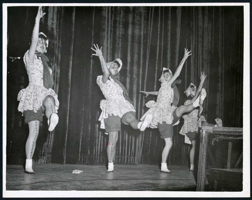 Photograph of the Jayhawk Follies, 1954