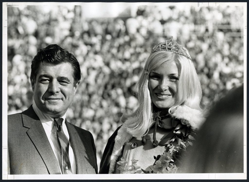 Photograph of KU Homecoming Queen Jan Merrick, 1969