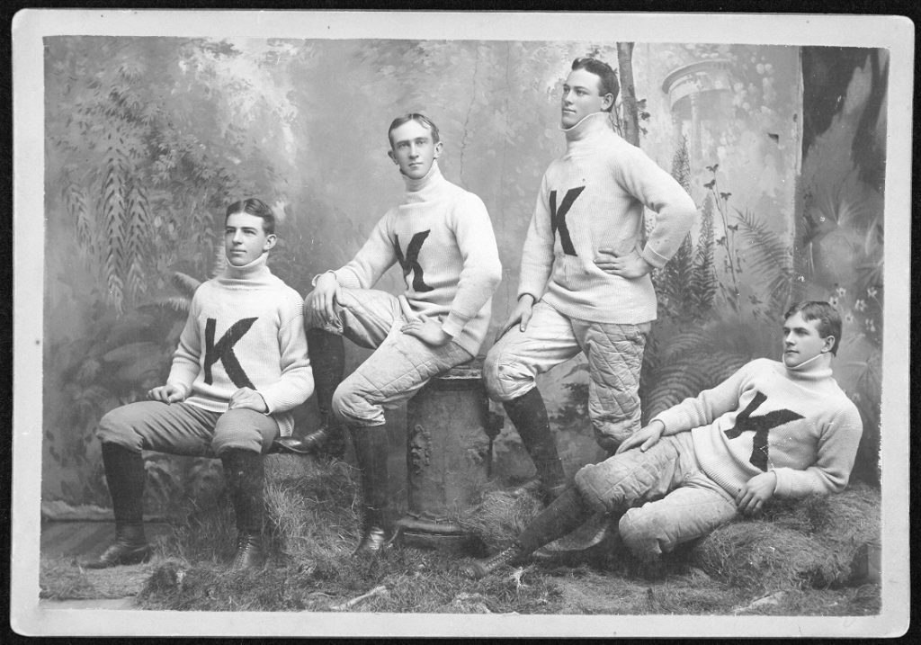 Photograph of the KU football team, 1892