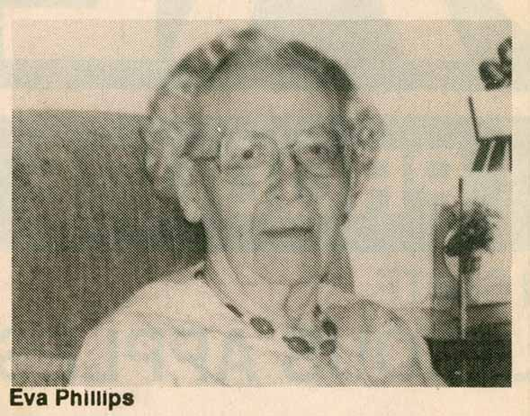Photograph of Eva Lathrop Phillips, 1992
