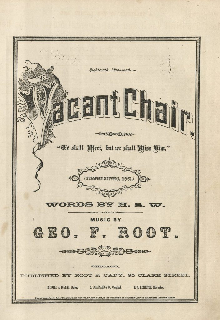 Image of the cover page for the sheet music of The Vacant Chair