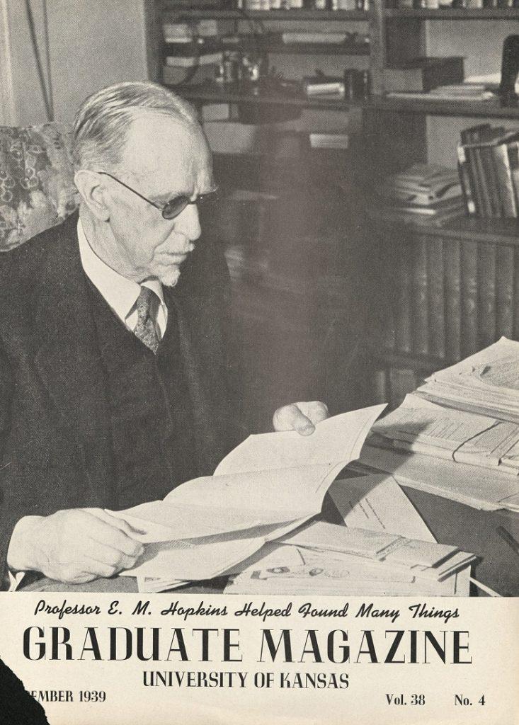 Cover of the KU Graduate Magazine, December 1939