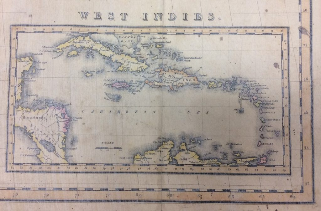 "An inset showing the West Indies on the ""Map of the United States with the Contiguous British and Spanish Possessions,"" 1816"