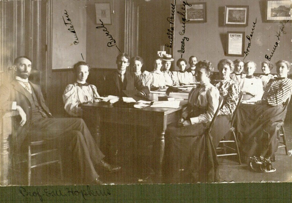 Photograph of a KU classroom, 1890s