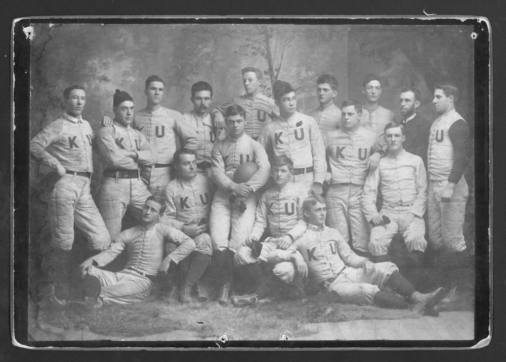 Photograph of the KU football team, 1891