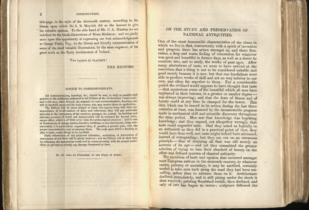 Image of pages from Archaeologia cambrensis, January 1846