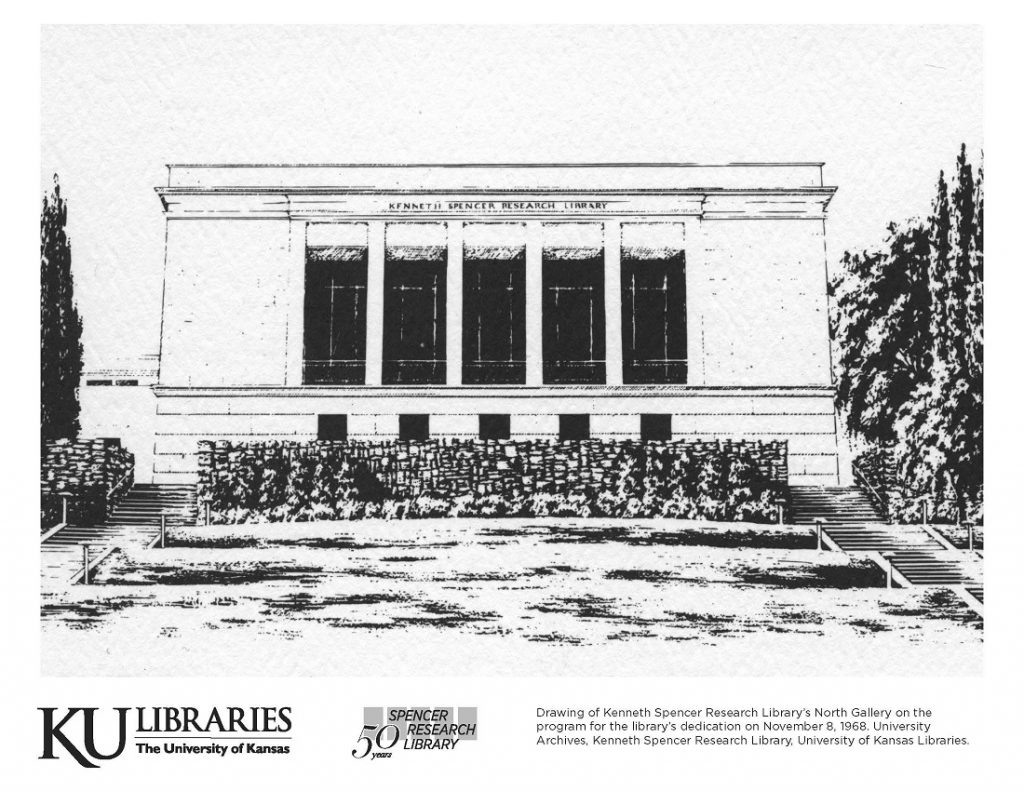 Spencer Research Library image in the KU Libraries coloring book, 2019