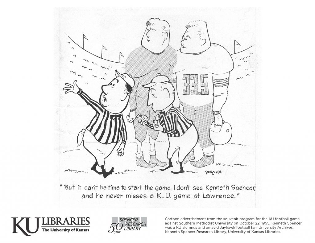 Spencer Chemical and P&M advertisement in the KU Libraries coloring book, 2019