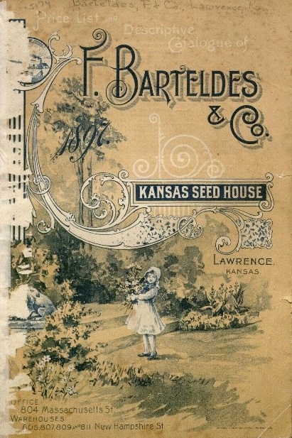 Cover of the Kansas Seed House catalog, 1897