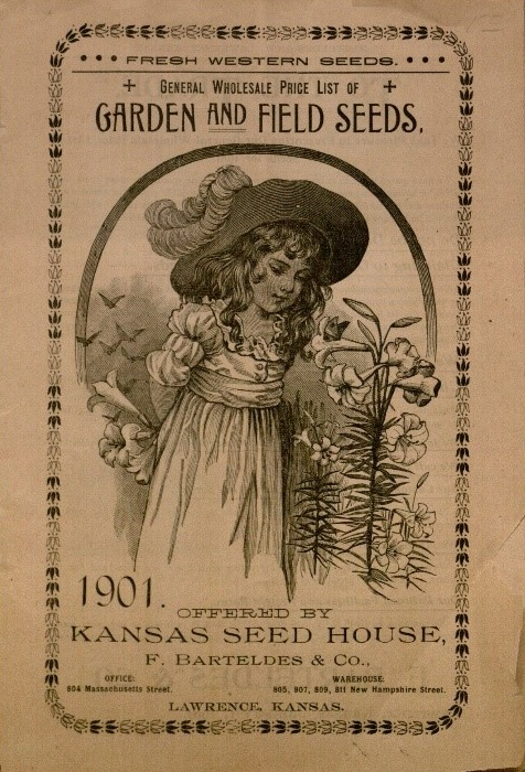 Cover of the Kansas Seed House catalog, 1901