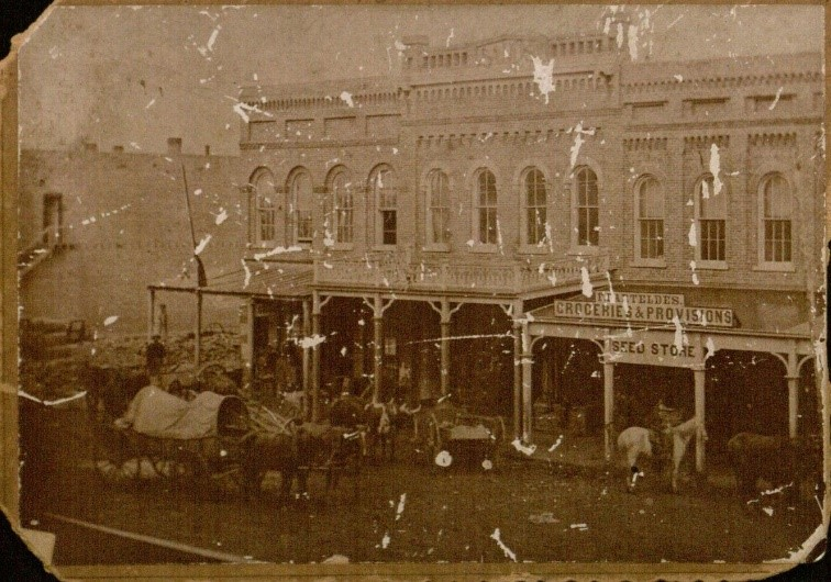 Photograph of the Barteldes Groceries & Provisions and Seed Store, 1864
