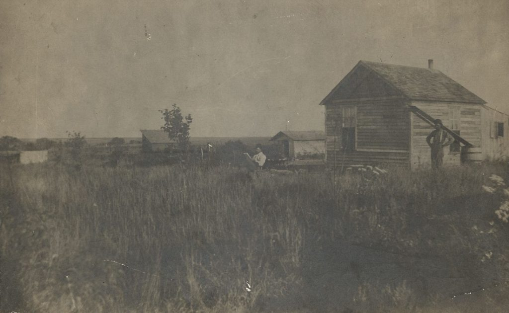 Photograph of James Scott's ranch in Oklahoma, circa 1895