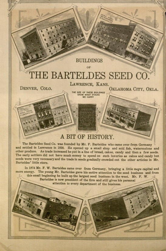 Page from the Barteldes seed catalog, 1915