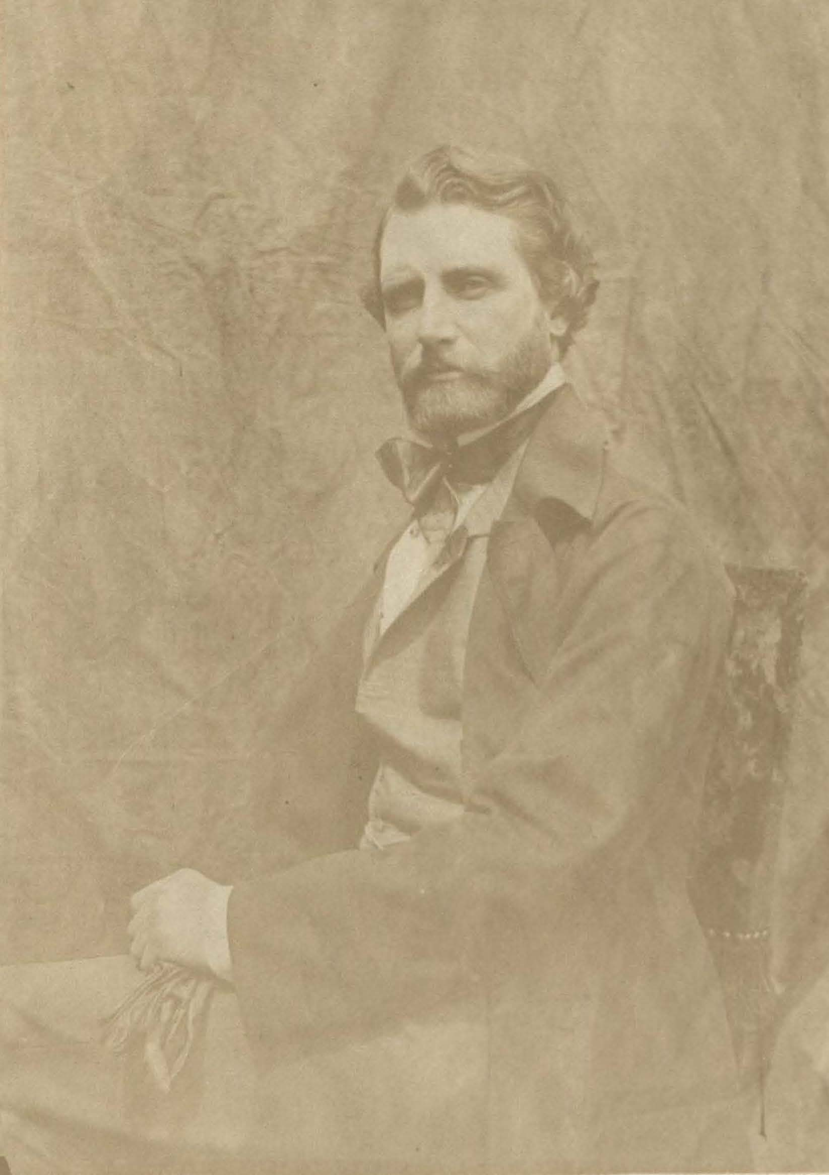 Photographic portrait of Frederic William Burton inlaid in Madonna Pia volume (MS E184)